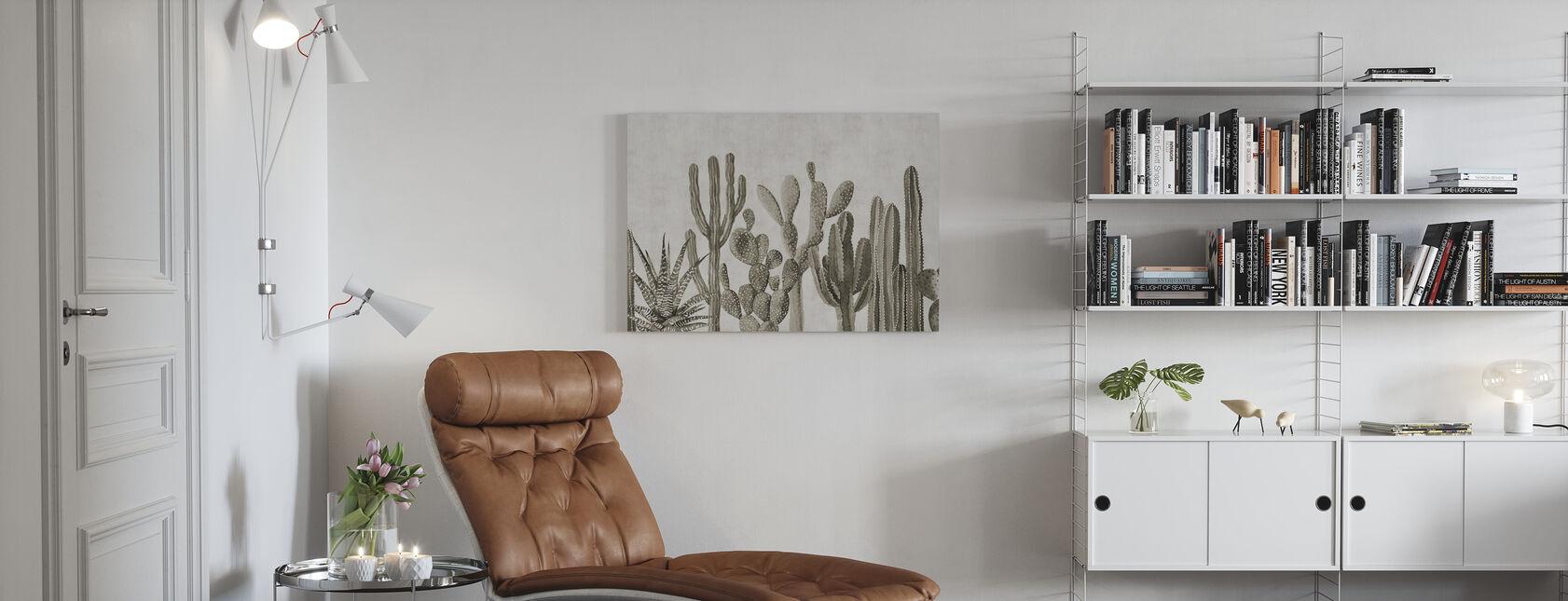 Kaktus Atacama - Sepia - Obraz na płótnie - Pokój dzienny