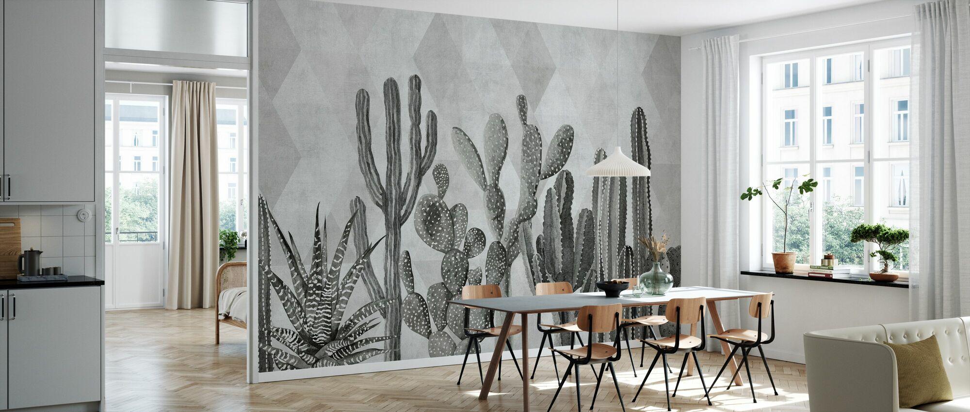 Atacama Cactus II - Bw - Wallpaper - Kitchen