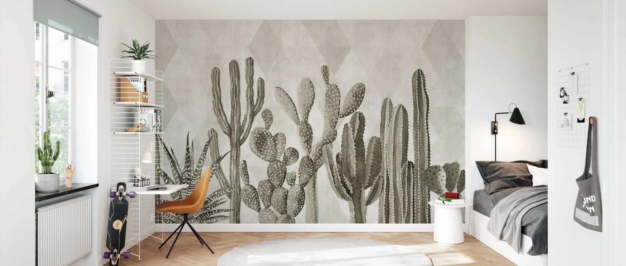 Atacama Kaktus II - Sepia - Tapet - Barnrum