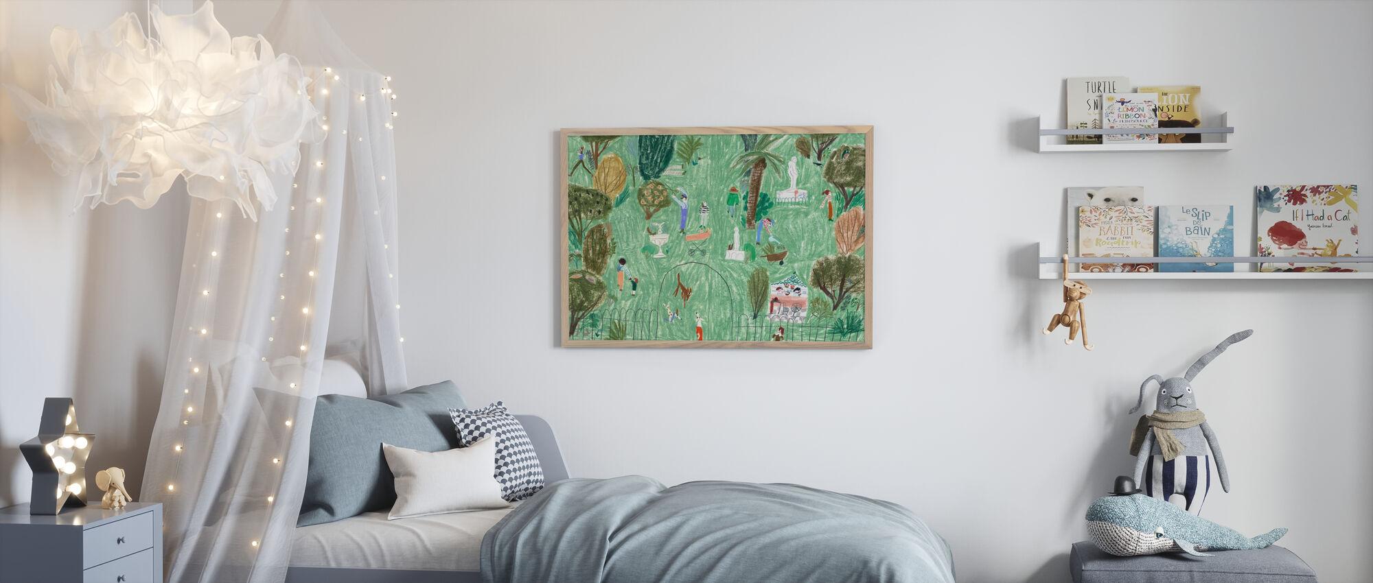 Rosie Runs - Framed print - Kids Room