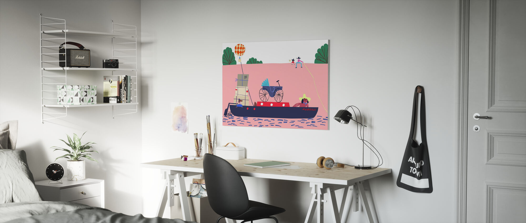 Boat and the Balloon - Canvas print - Kids Room