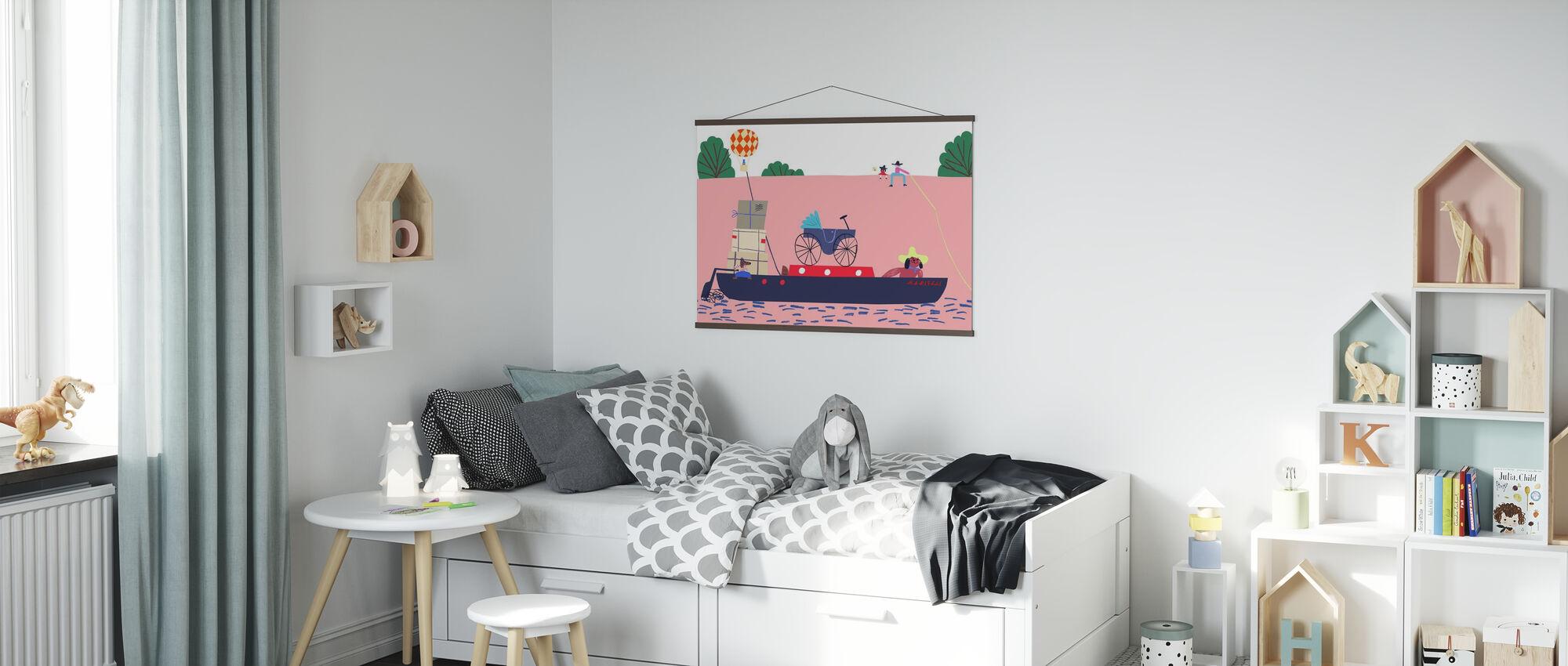 Båt og ballongen - Plakat - Barnerom