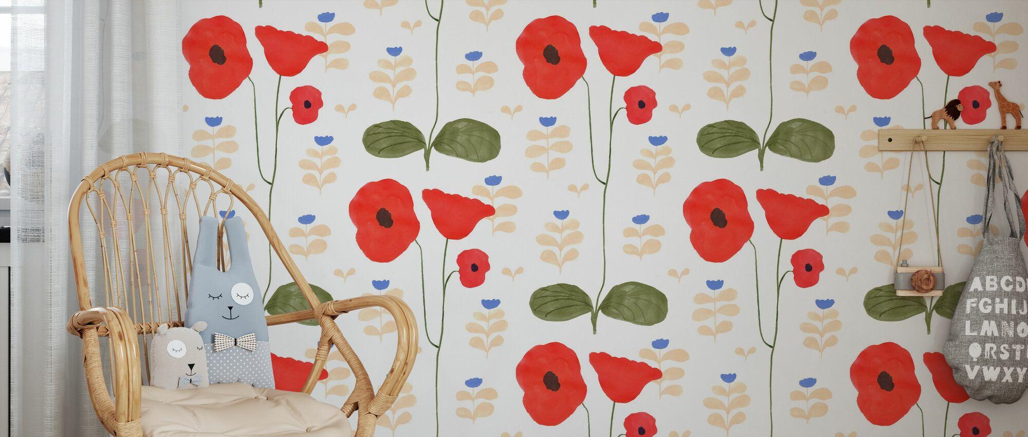 Garden Poem - Wallpaper - Kids Room
