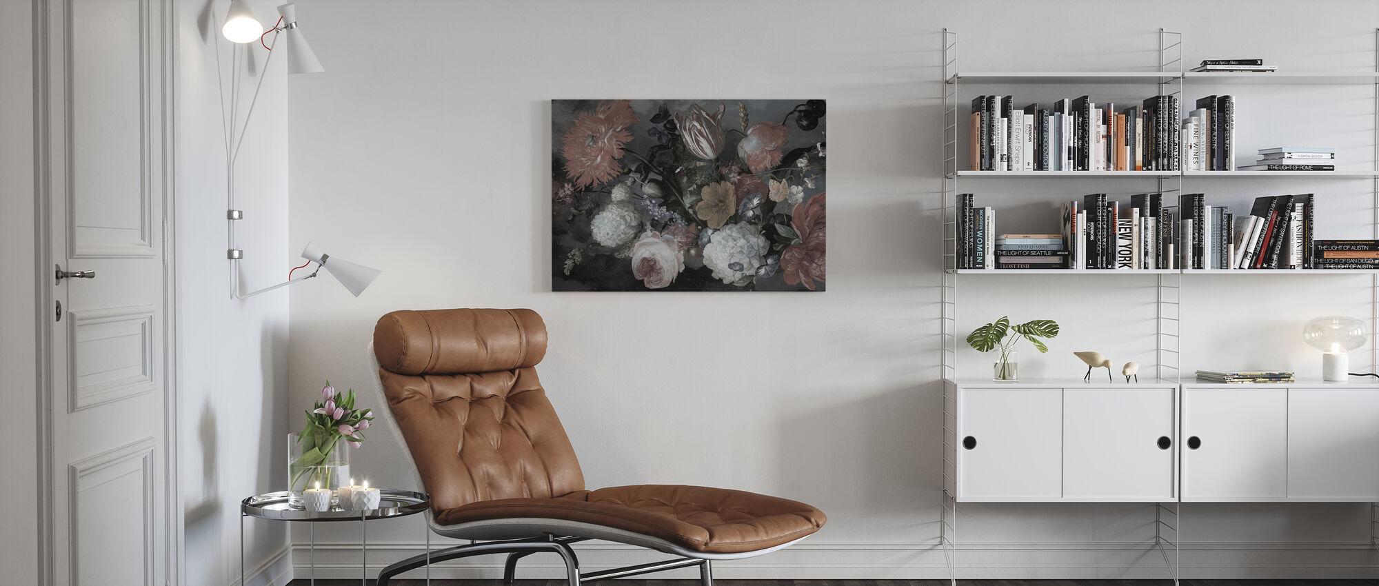 Böhmisches Blumenmuster - Leinwandbild - Wohnzimmer
