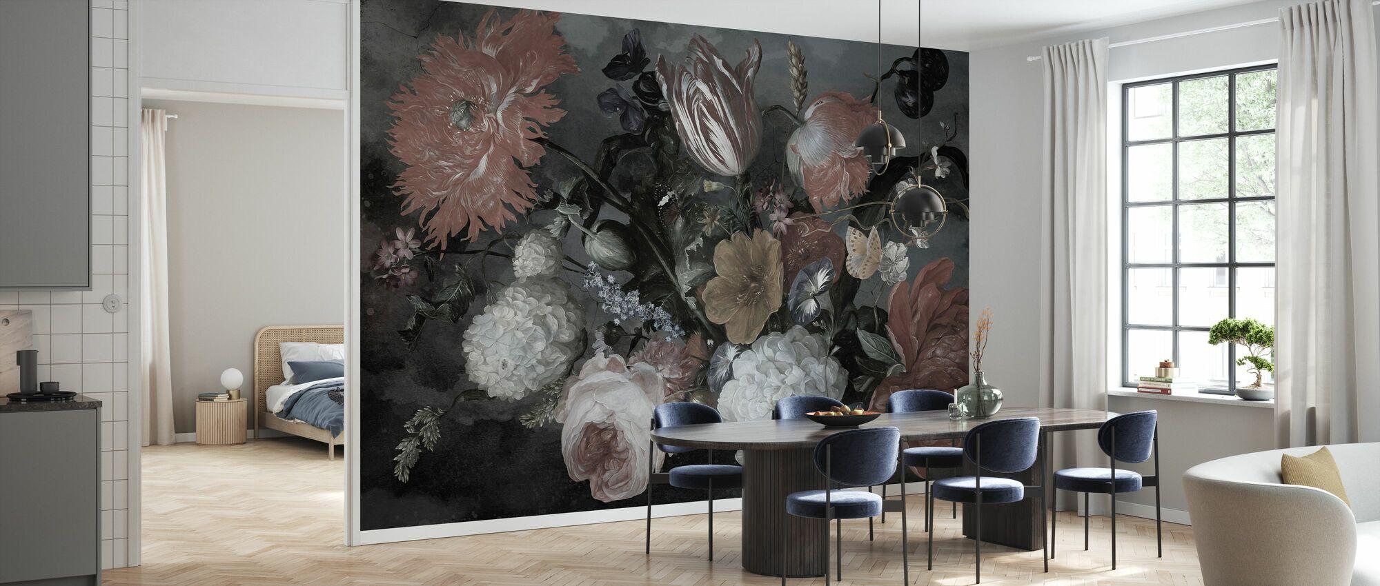 Boheemse bloemen - Behang - Keuken