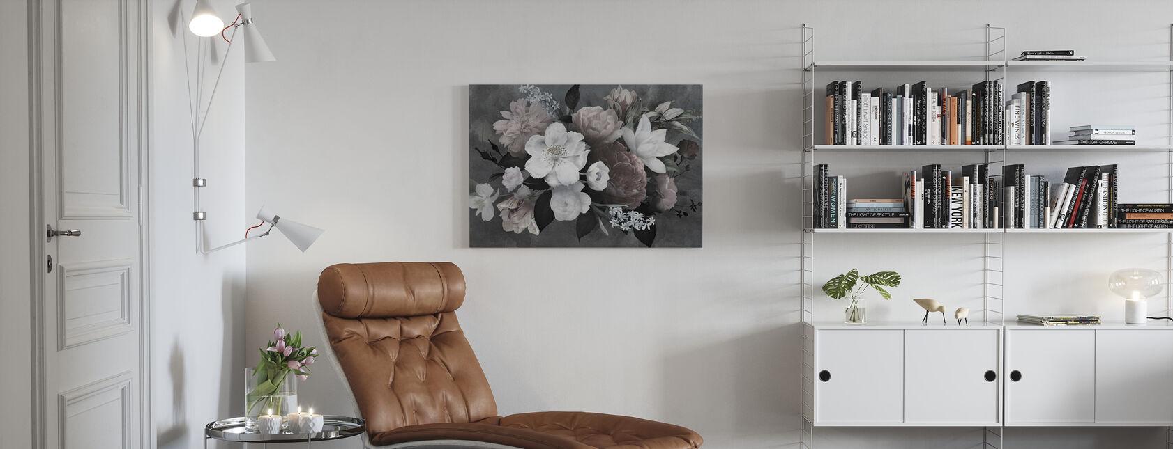 Vintage Blomster - Billede på lærred - Stue