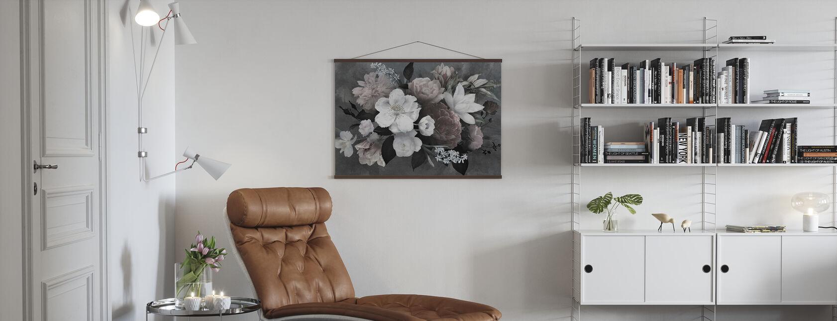 Vintage Blumen - Poster - Wohnzimmer