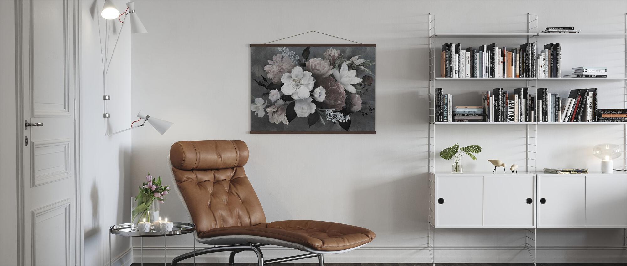 Vintage Blommor - Poster - Vardagsrum