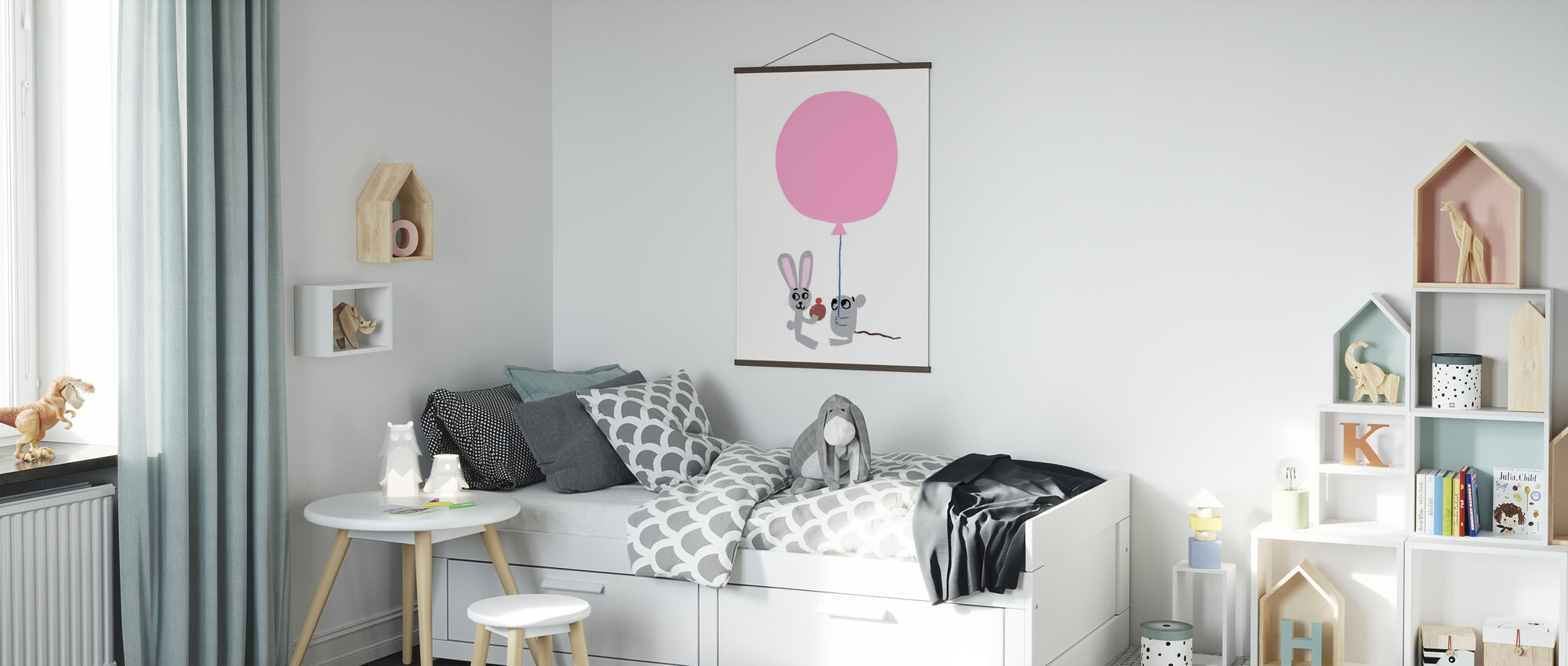 Pink Balloon - Poster - Kids Room