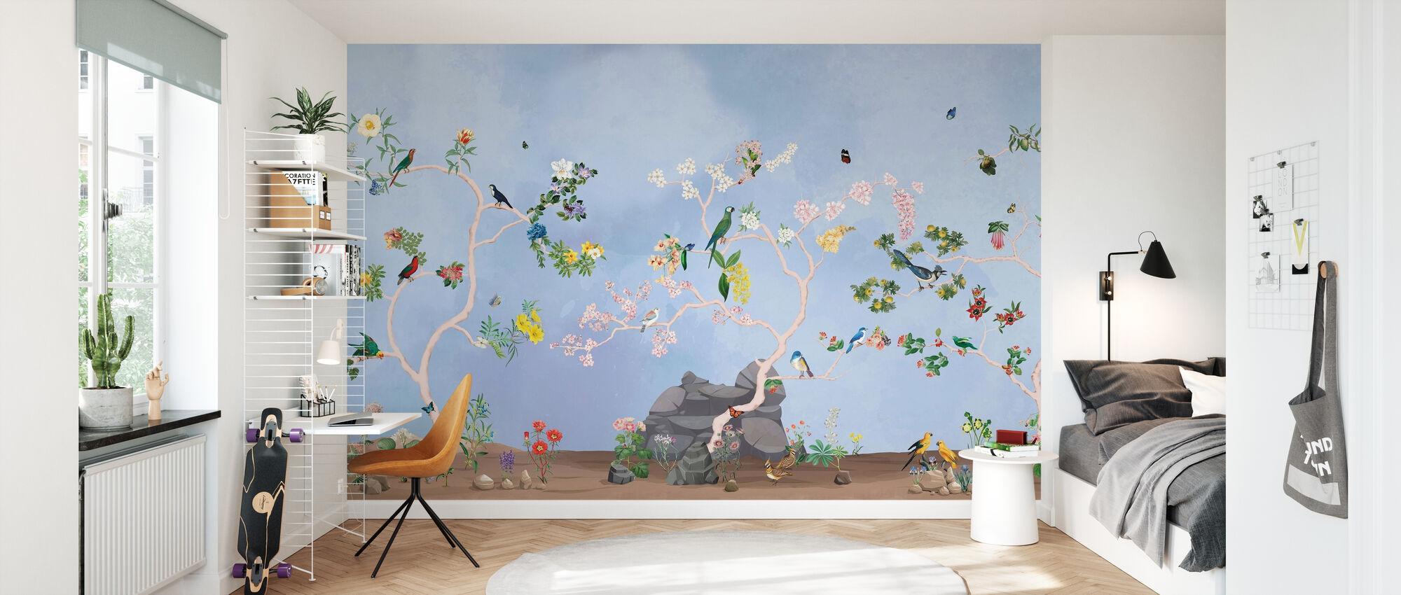 Vogels Tuin - Behang - Kinderkamer