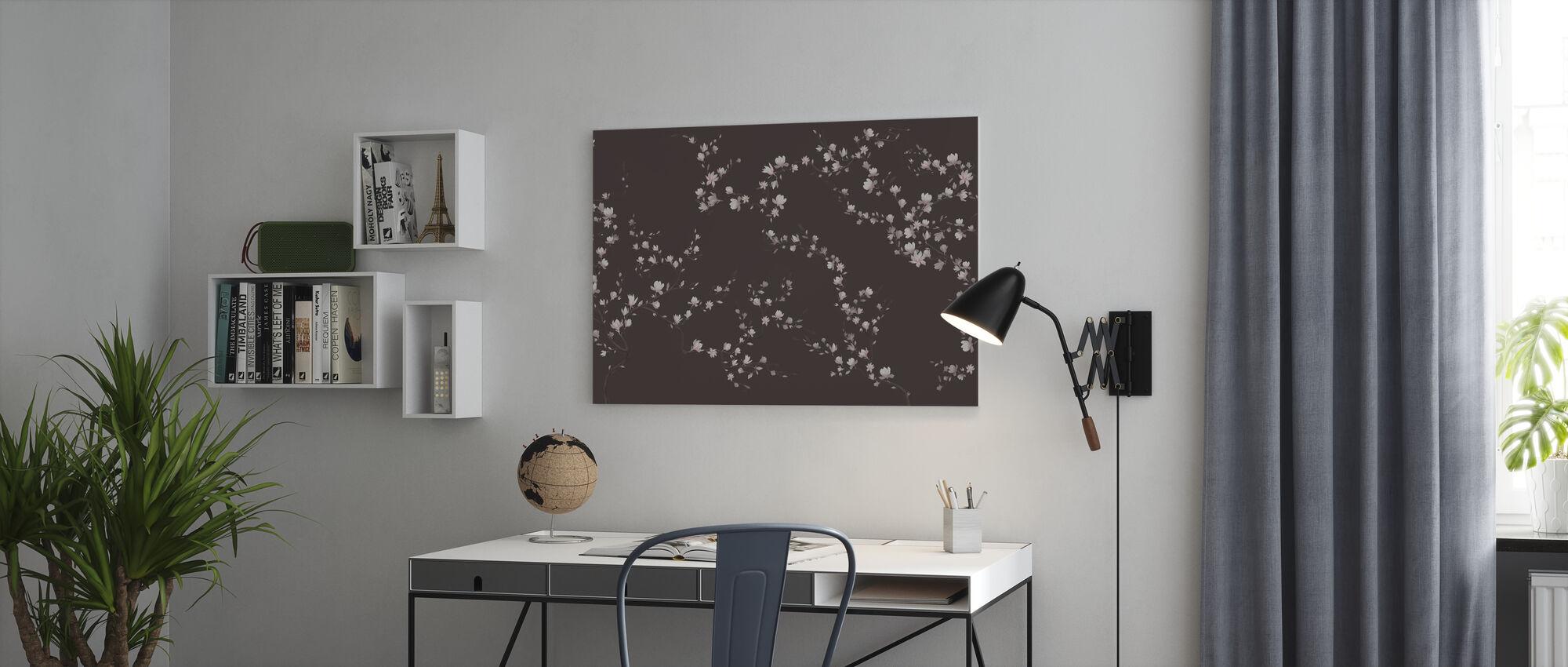 Flourishing Magnolia - Cold Brown - Canvas print - Office