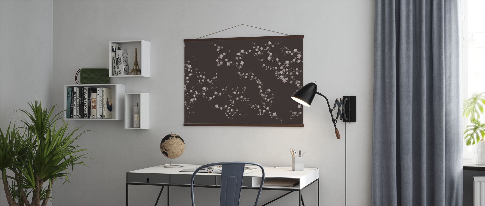 Flourishing Magnolia - Cold Brown - Poster - Office