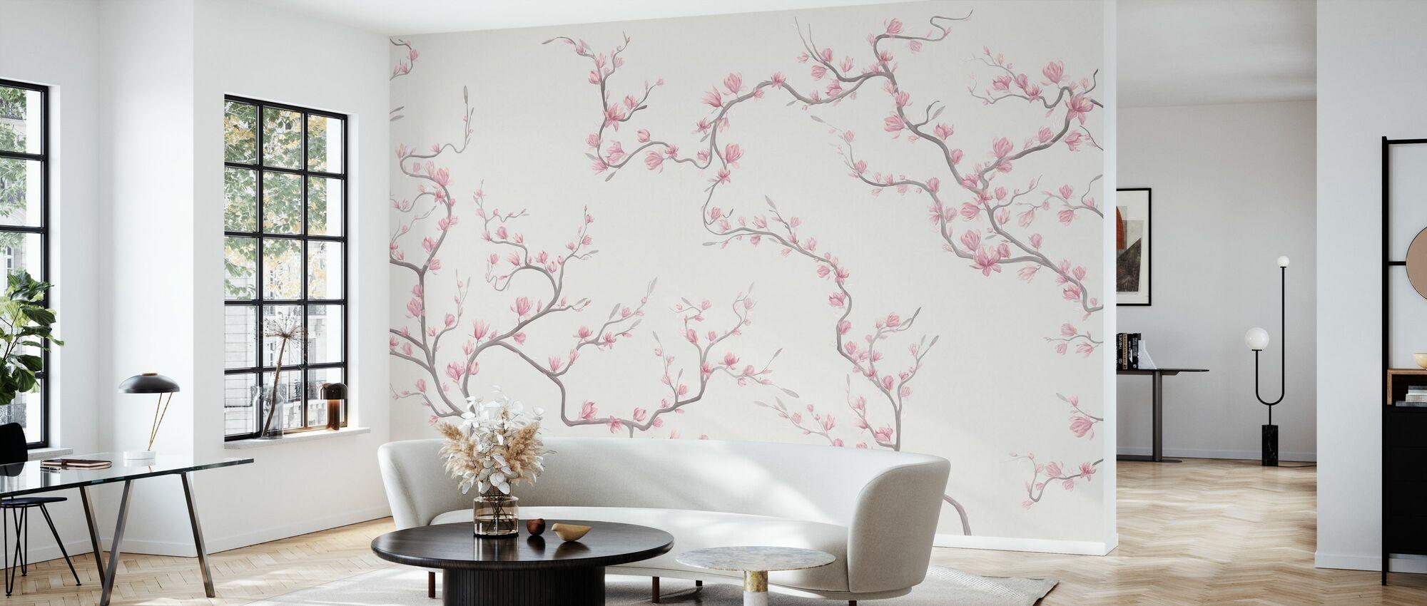 Flourishing Magnolia - Natur - Tapet - Stue