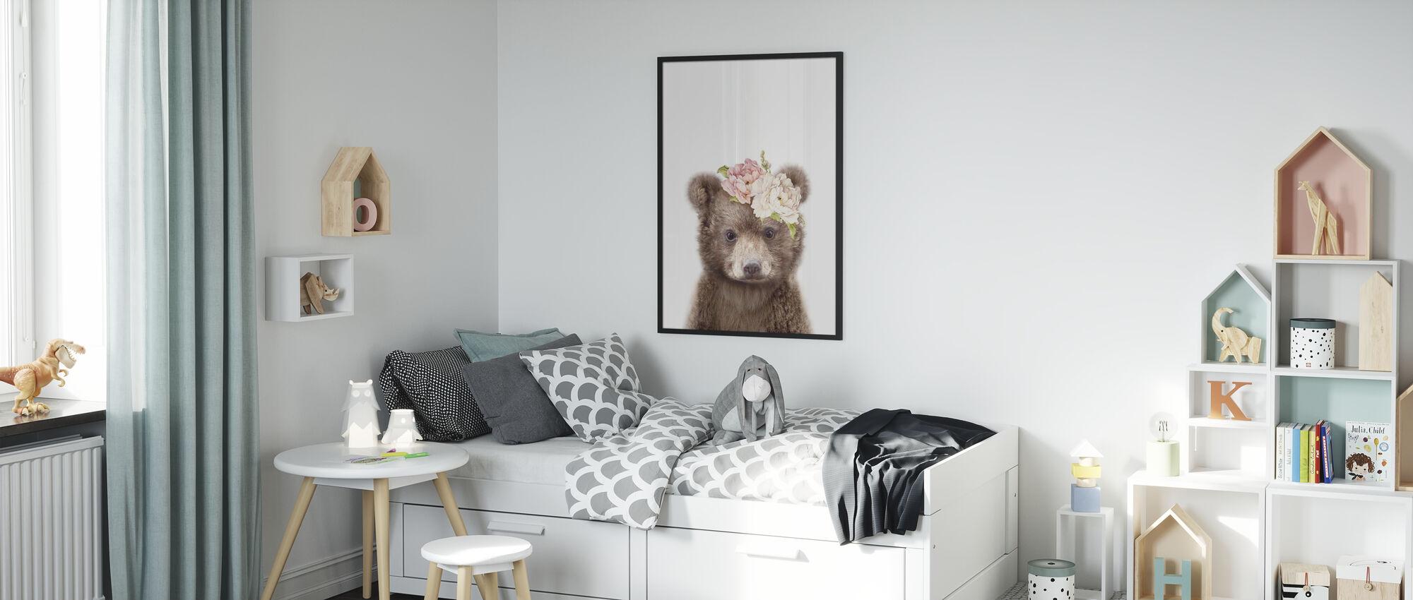 Floral Baby Bear - Poster - Kids Room
