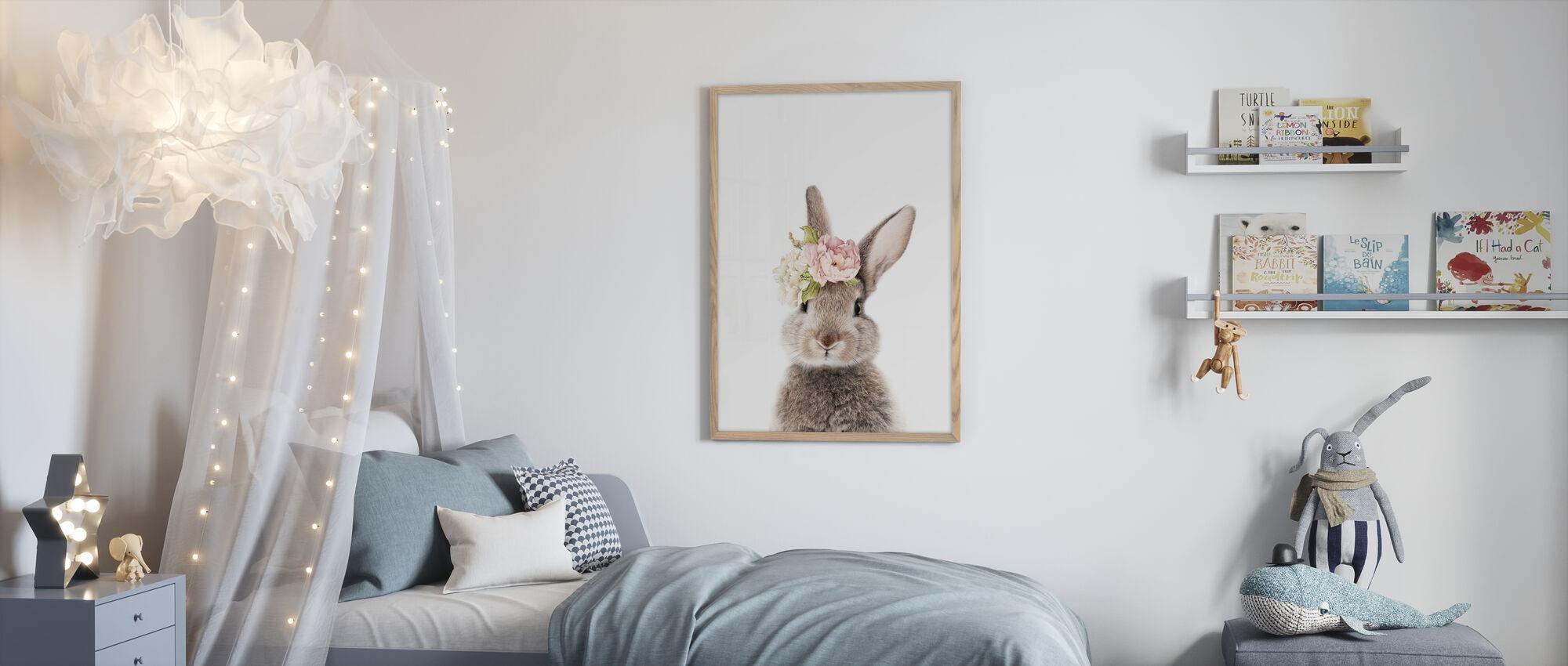 Blomster Bunny - Plakat - Børneværelse