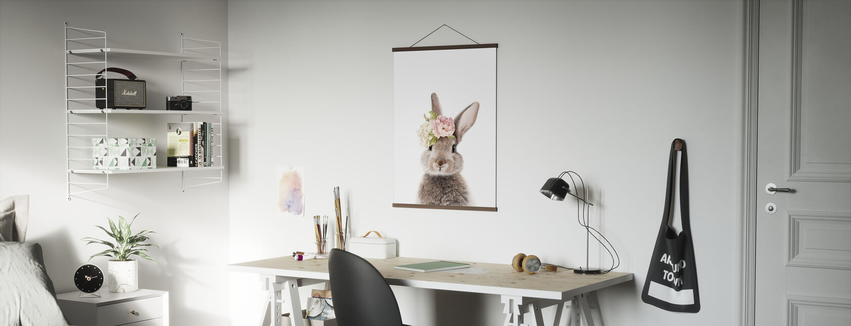 Floral Bunny - Poster - Office