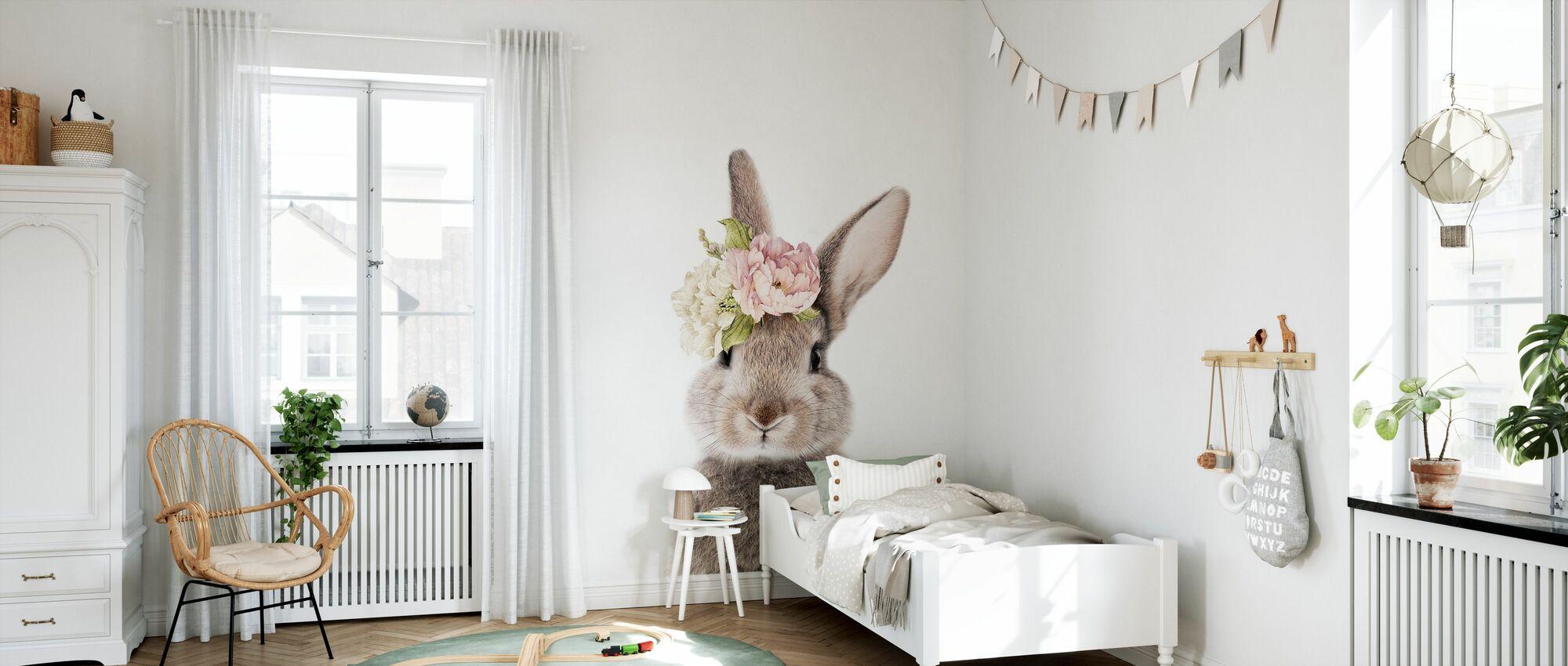 Blomstret kanin - Tapet - Barnerom