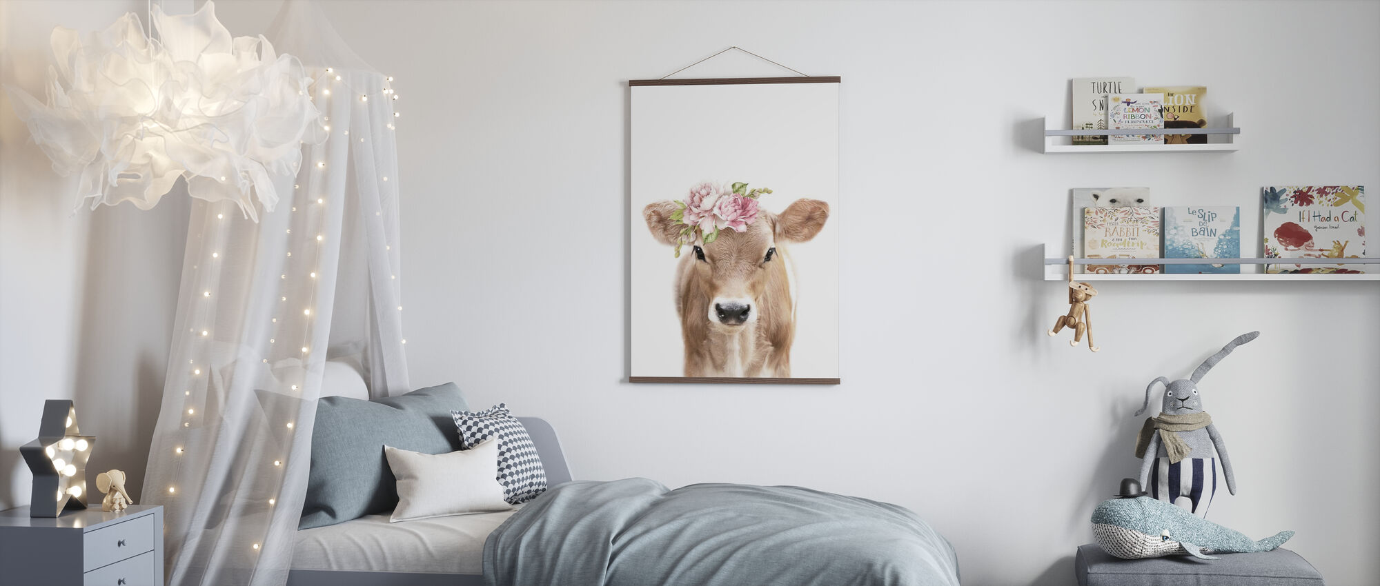 Floral Calf - Poster - Kids Room