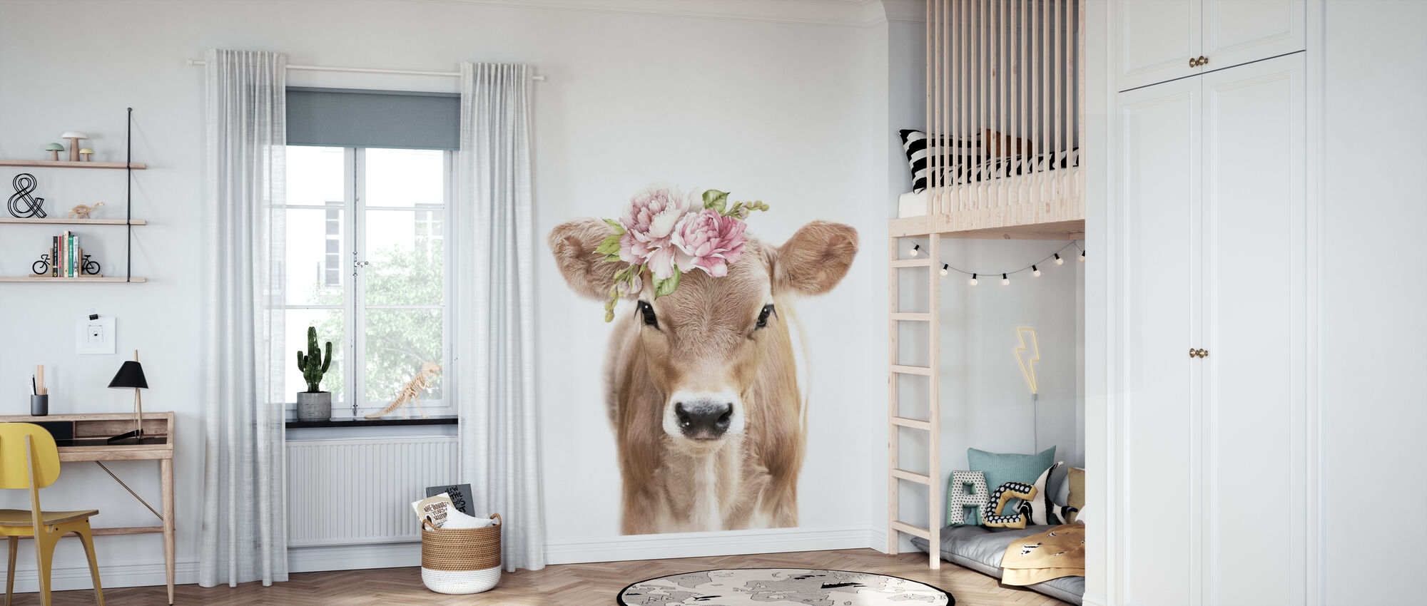 Floral Calf - Wallpaper - Kids Room