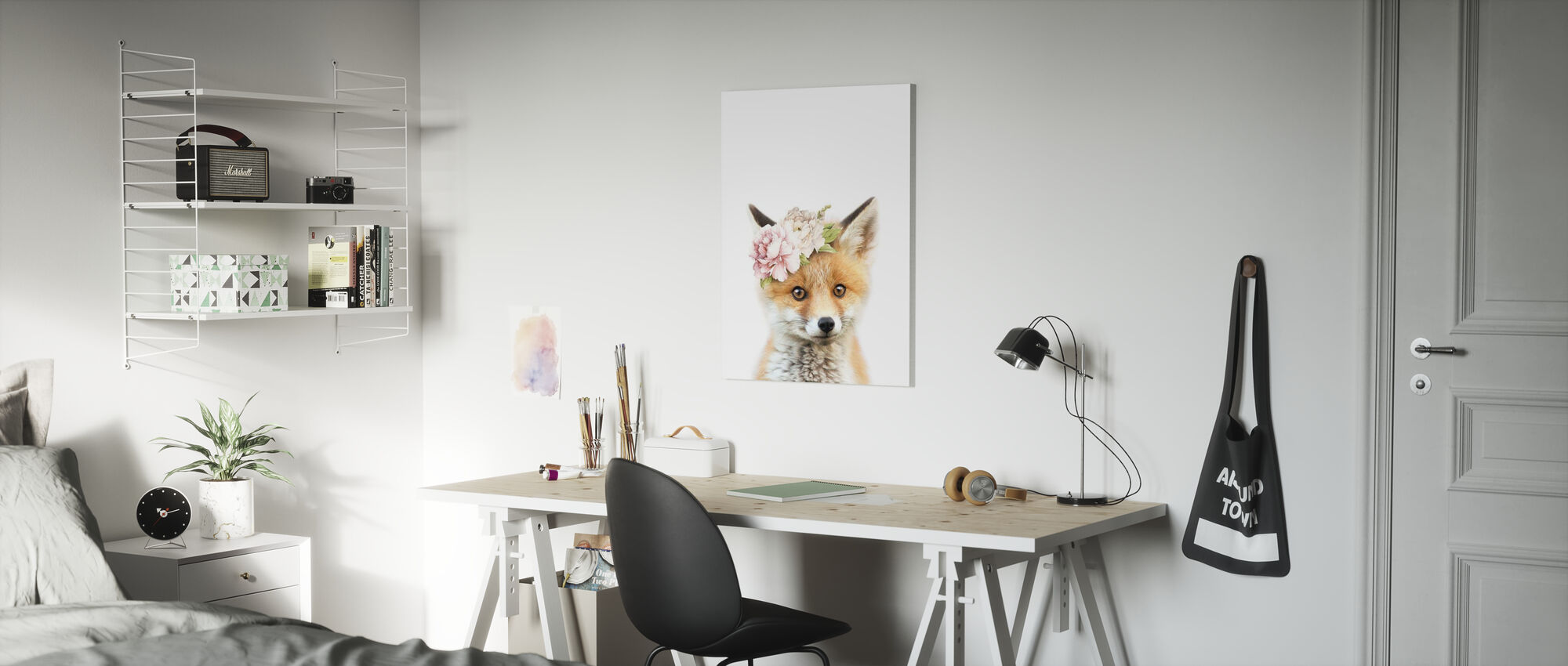 Floral Fox - Canvas print - Kids Room