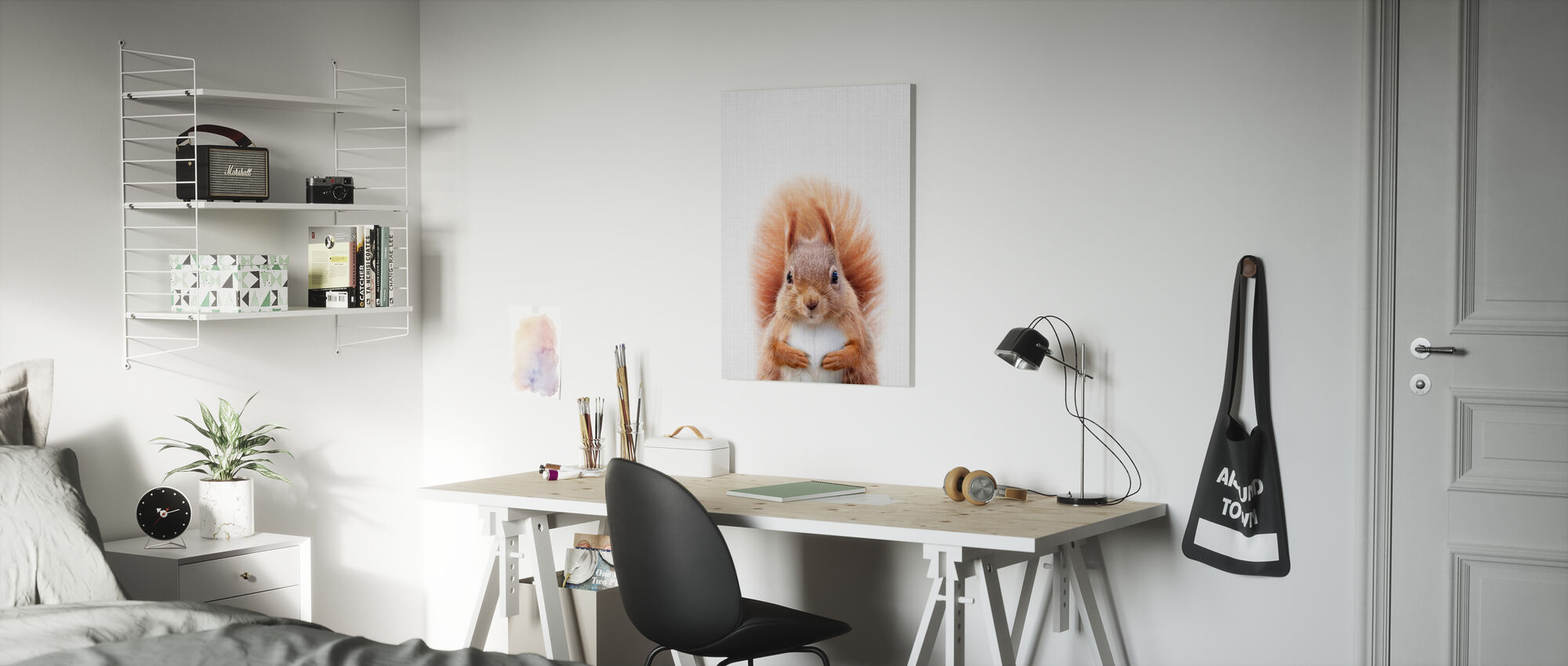 Squirrel - Canvas print - Kids Room