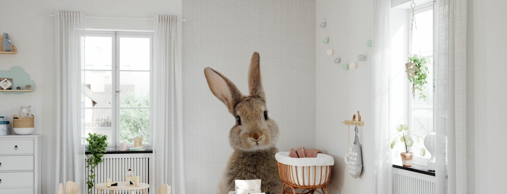 Bunny Rabbit - Wallpaper - Nursery