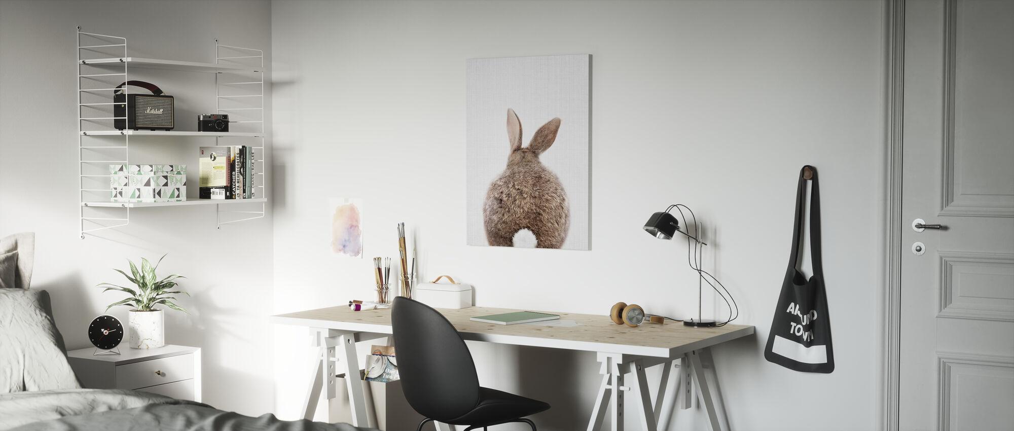 Bunny Rabbit Tail - Canvas print - Kids Room