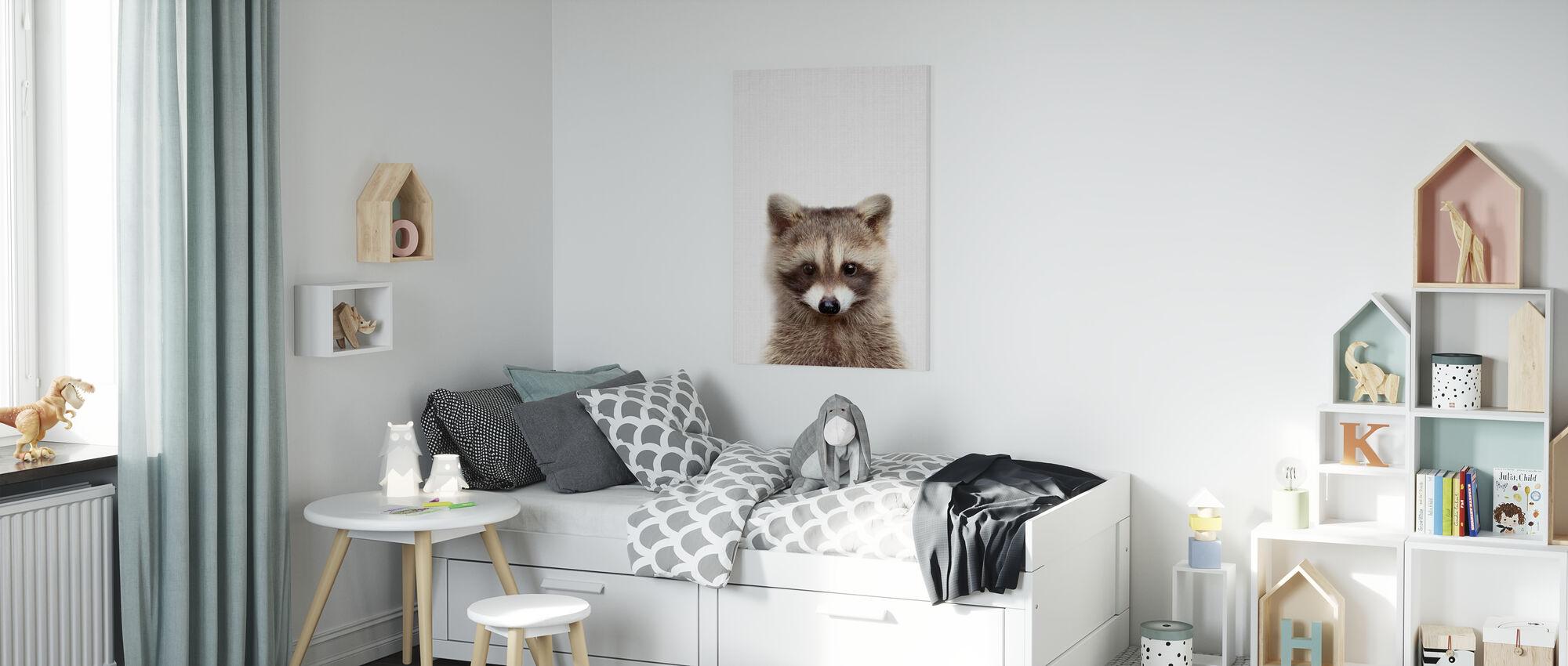 Raccoon - Canvas print - Kids Room