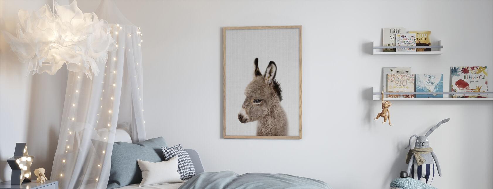 Baby Donkey - Framed print - Kids Room