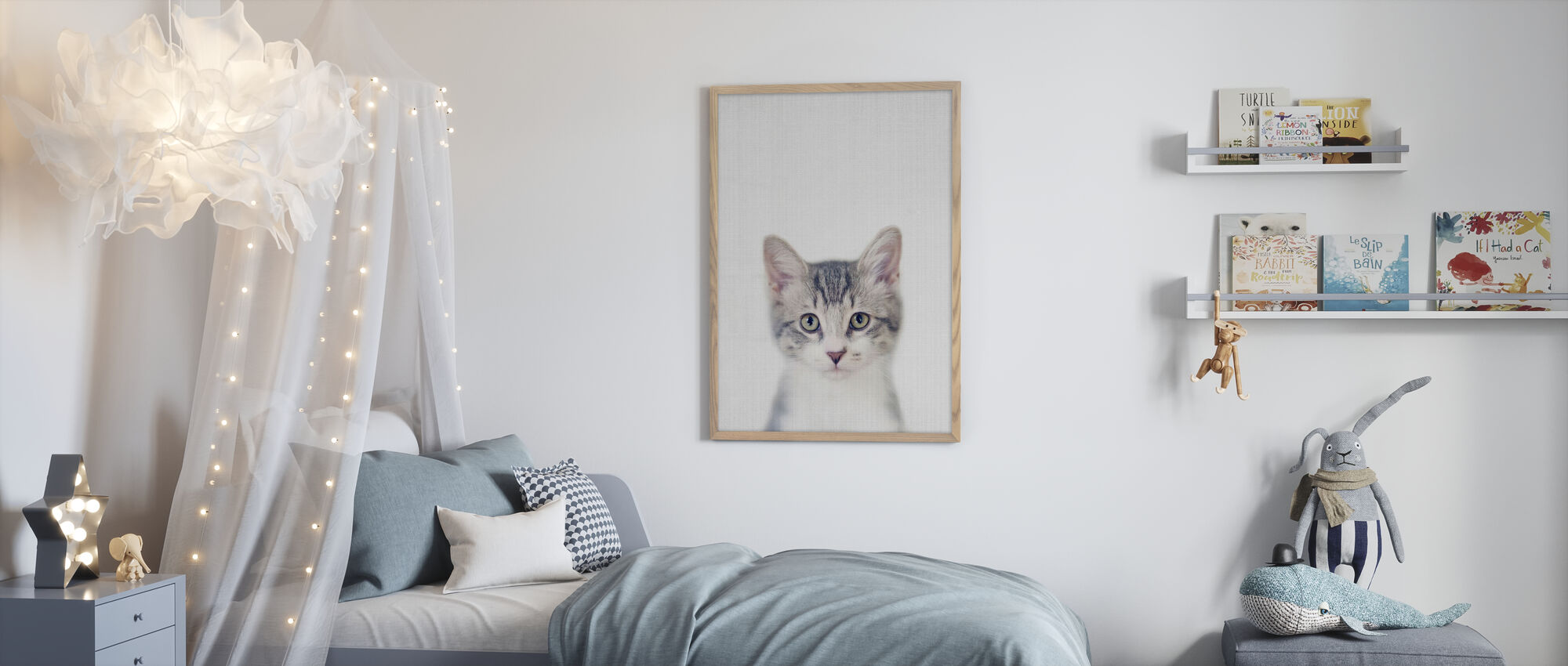 Kitten - Framed print - Kids Room