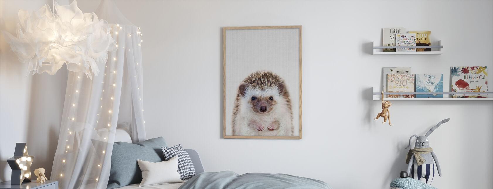 Hedgehog - Framed print - Kids Room