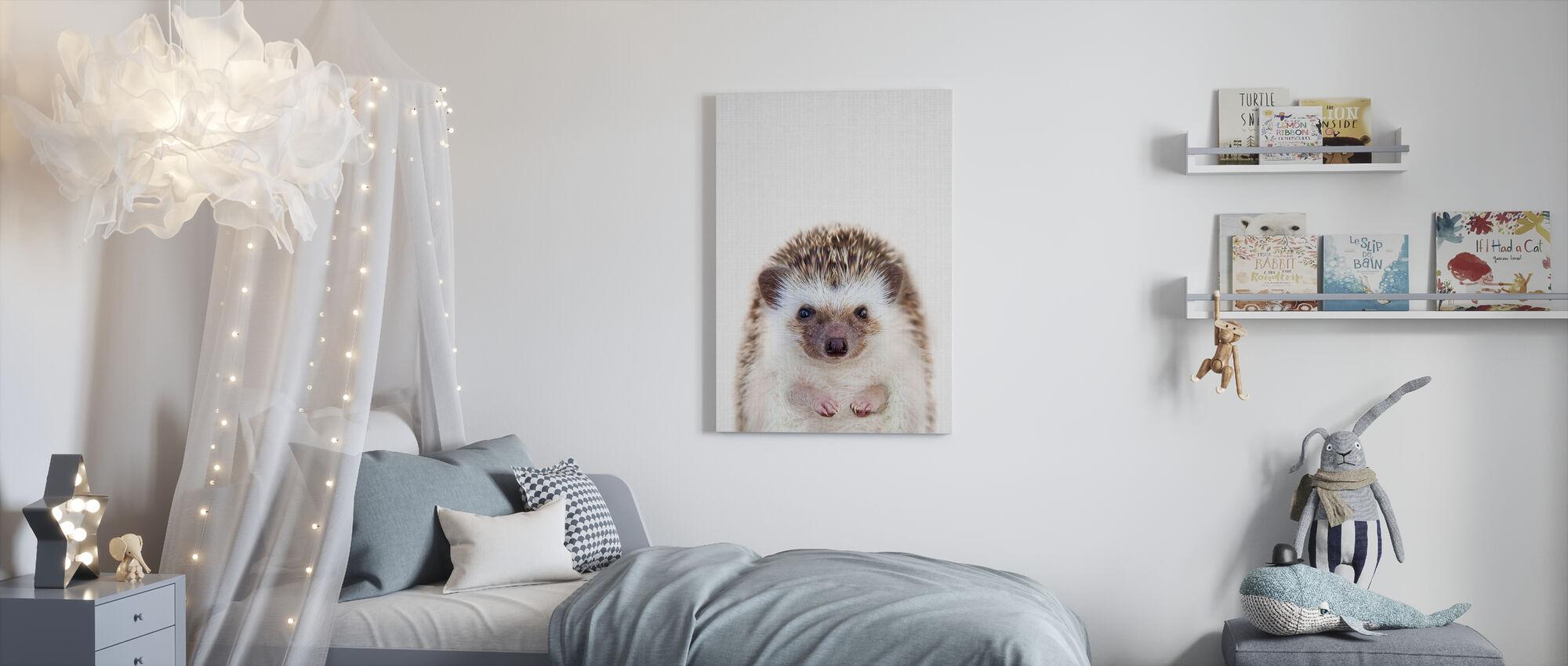 Hedgehog - Canvas print - Kids Room