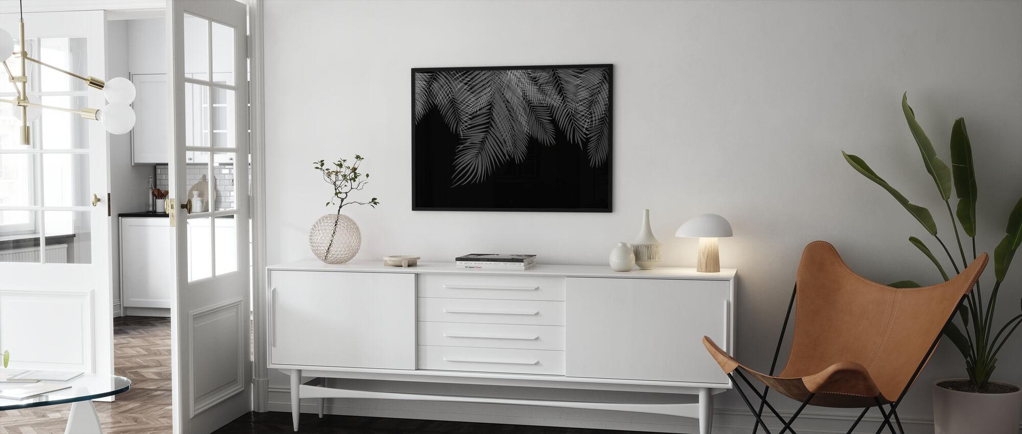 Hængende Palm Blade - Sort-Hvid - Plakat - Stue