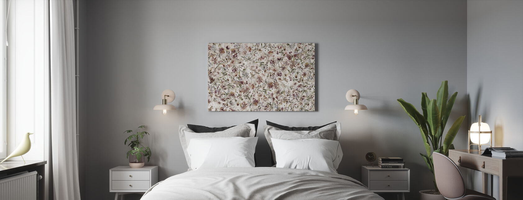 Bohemian Blossom - Canvas print - Bedroom