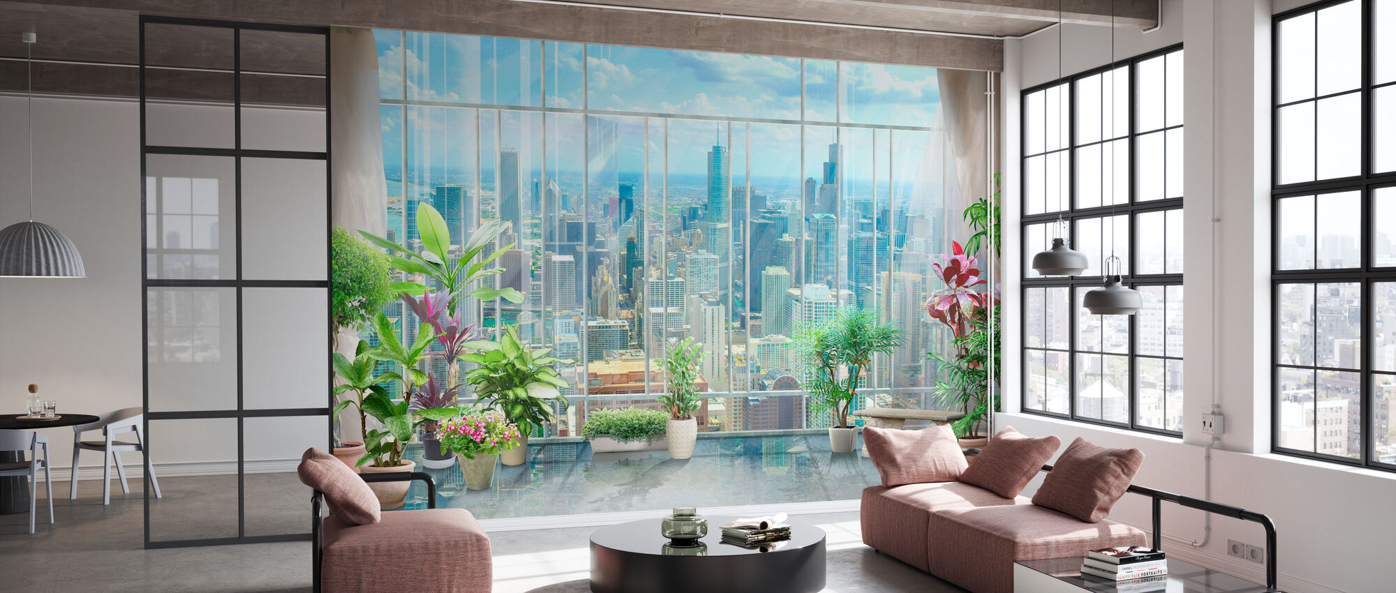 Chicago View - Wallpaper - Office