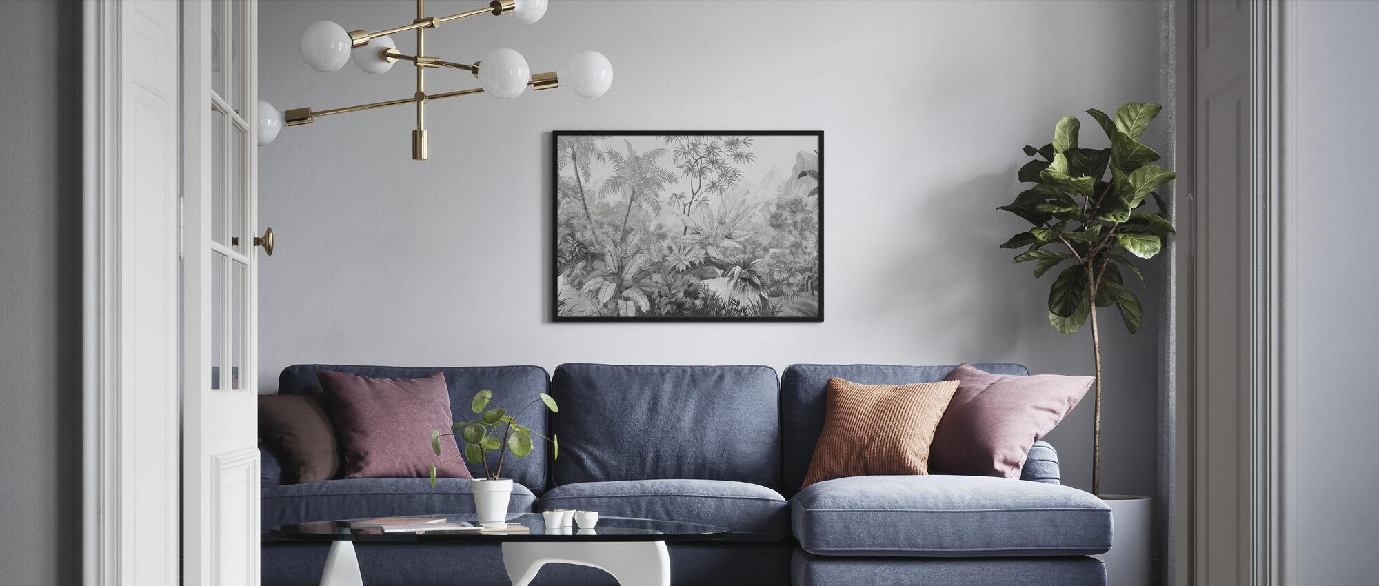 Tangled Jungle - Bw - Framed print - Living Room