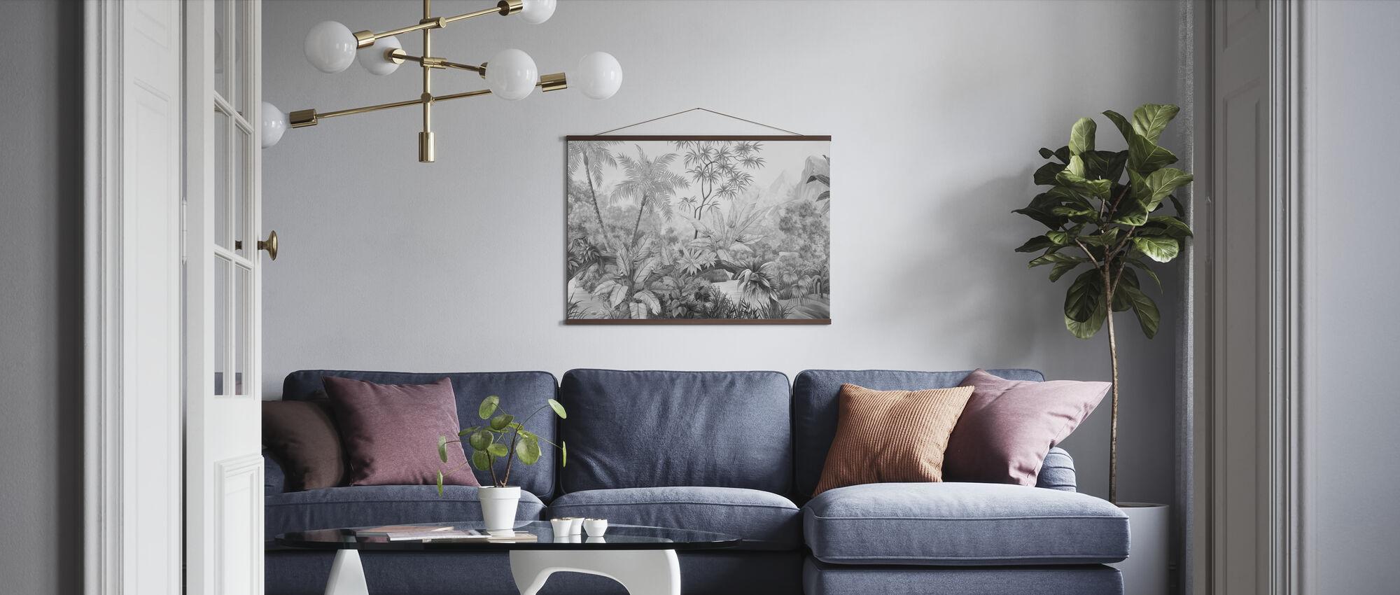 Verward Jungle - Bw - Poster - Woonkamer