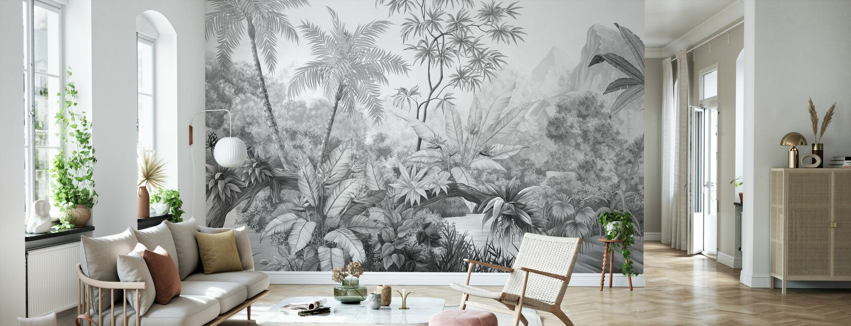 Jungle Enredado - Bw - Papel pintado - Salón