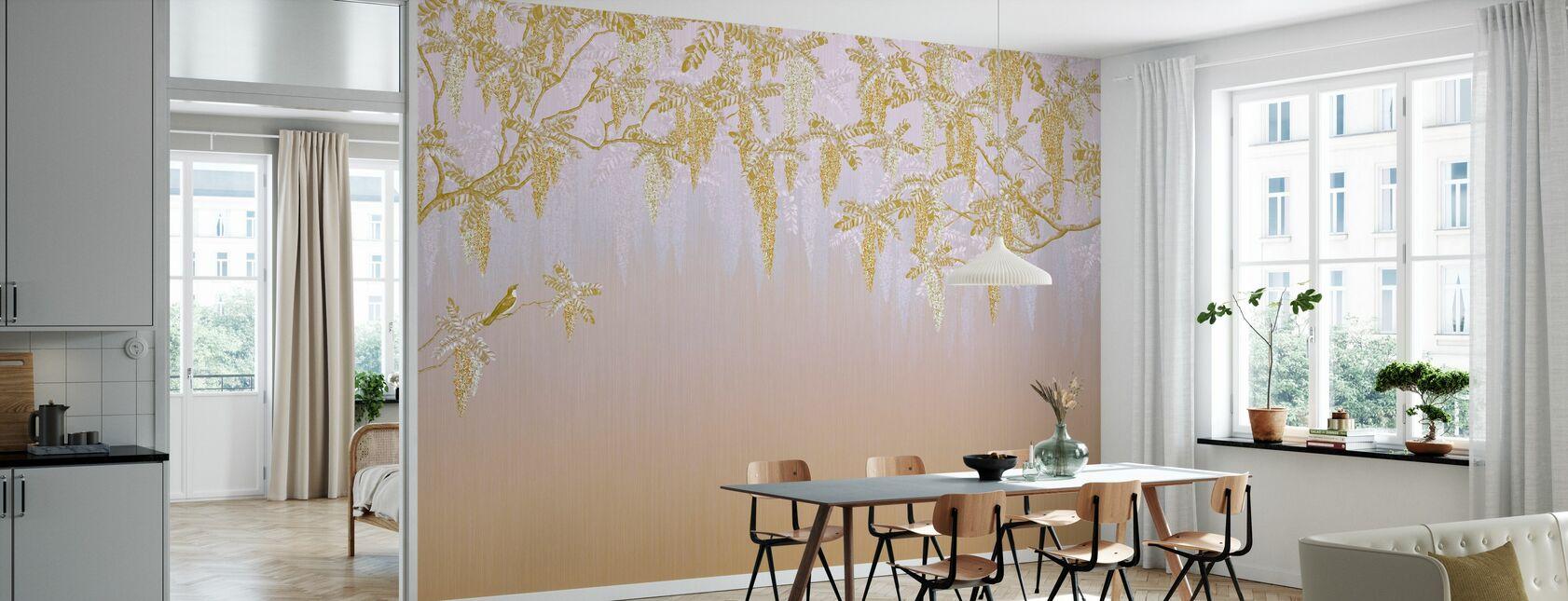 Wisteria - Yellow - Wallpaper - Kitchen
