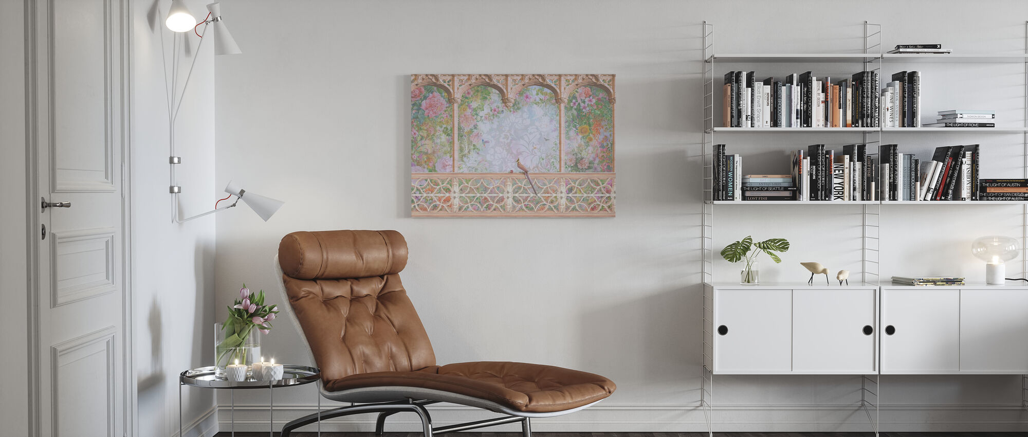 Arch and the Bird - Canvas print - Living Room