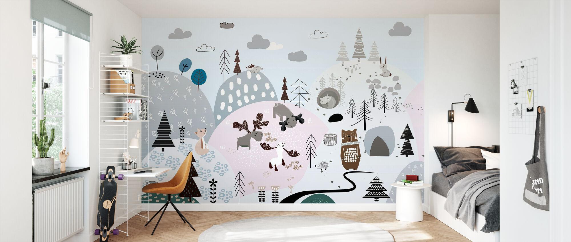 Friendly Forest Hills - Wallpaper - Kids Room