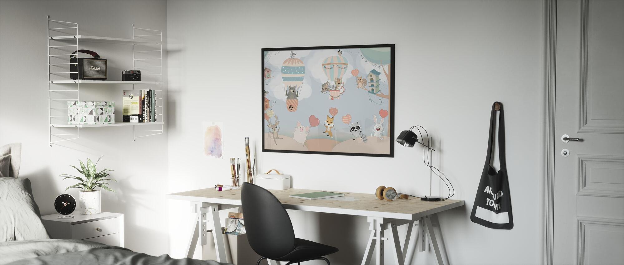 Happy Animal Buddies - Poster - Kids Room