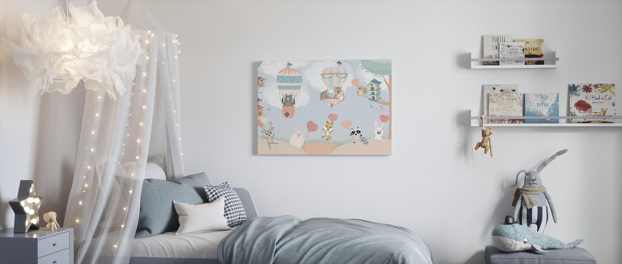 Gelukkige Animal Buddies - Canvas print - Kinderkamer