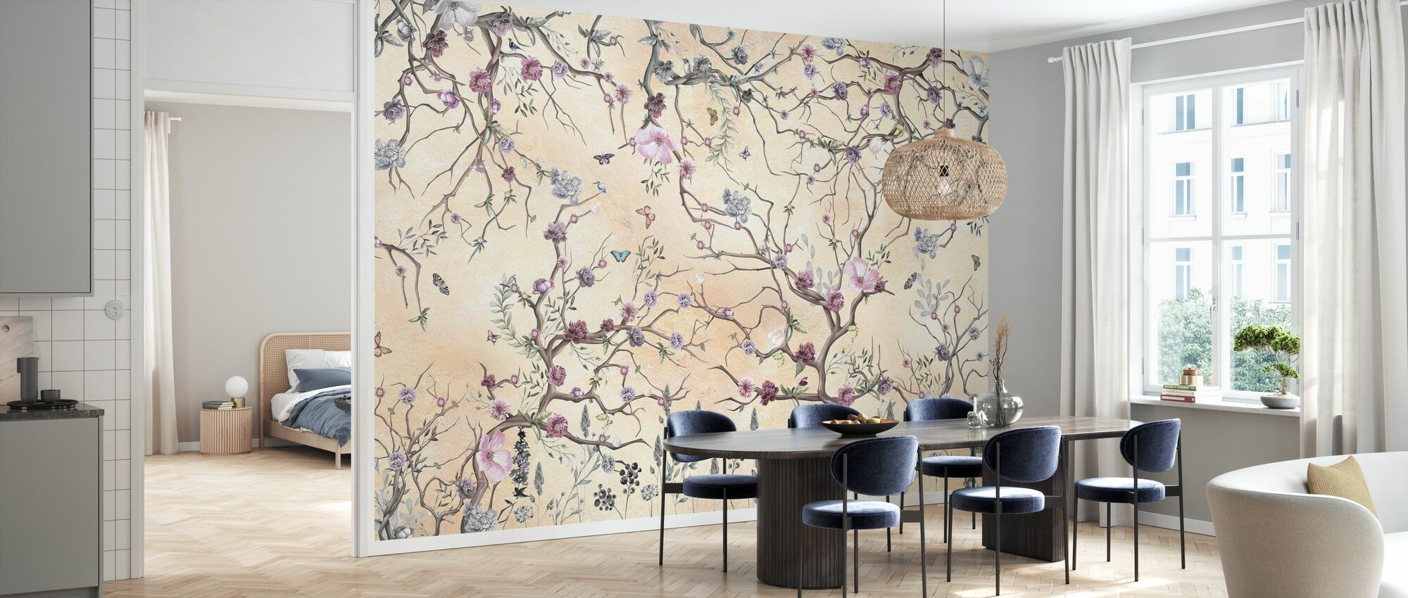 Magic Tree - Pale Yellow - Wallpaper - Kitchen