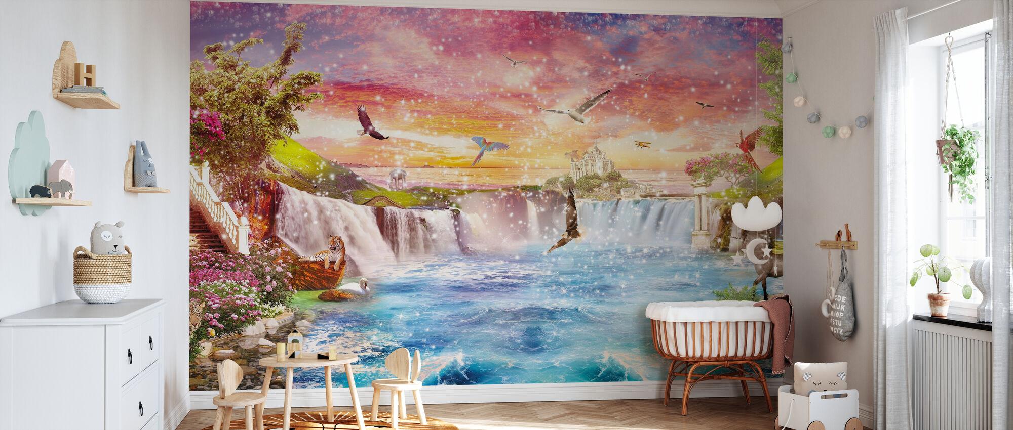 Cascade magique - Papier peint - Chambre de bébé