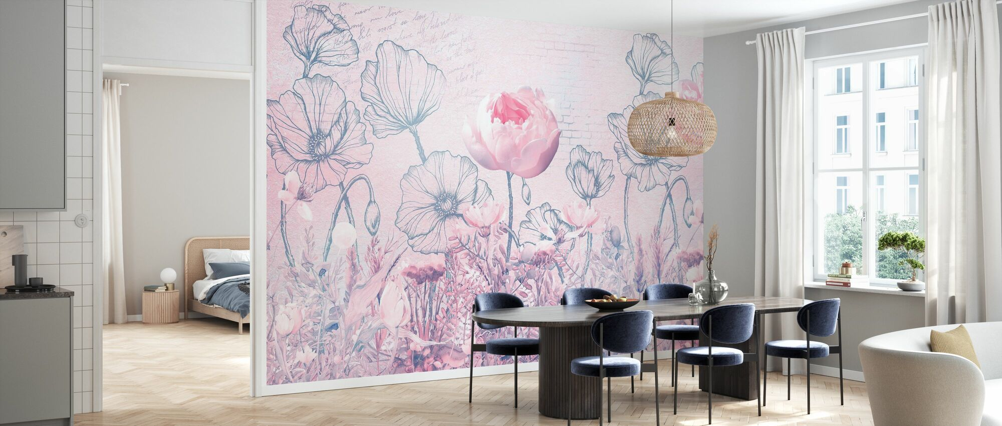 Poppies and Roses - Wallpaper - Kitchen