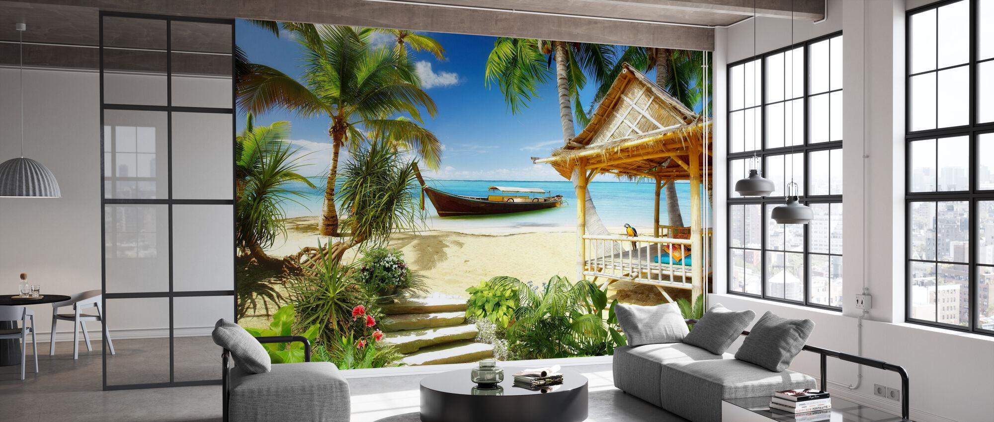 Retro Tropics - Wallpaper - Office
