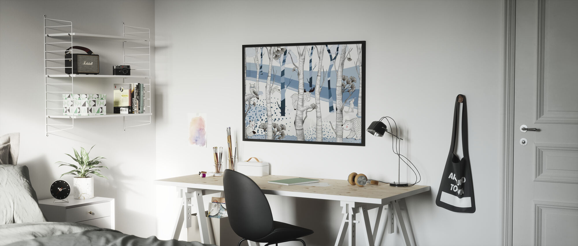 Woodland - Blue - Poster - Kids Room
