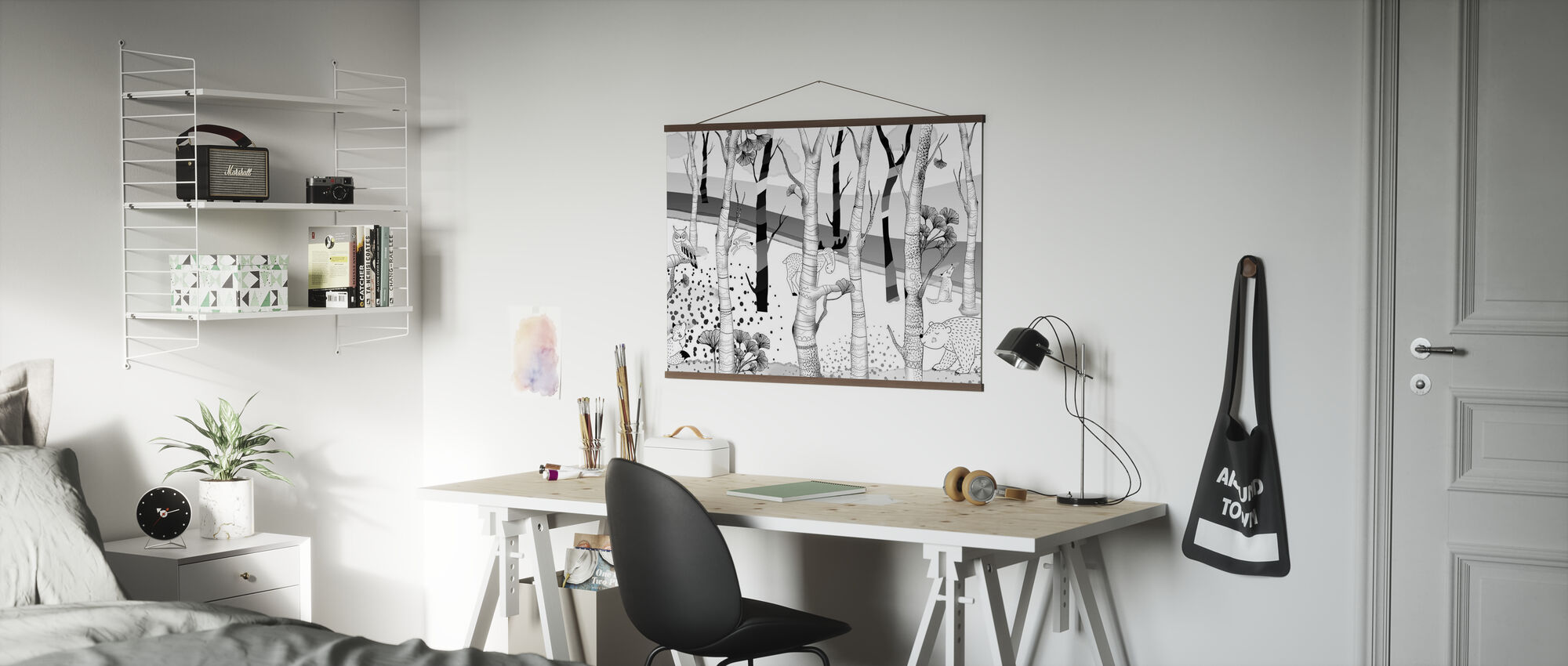 Woodland - Bw - Poster - Office