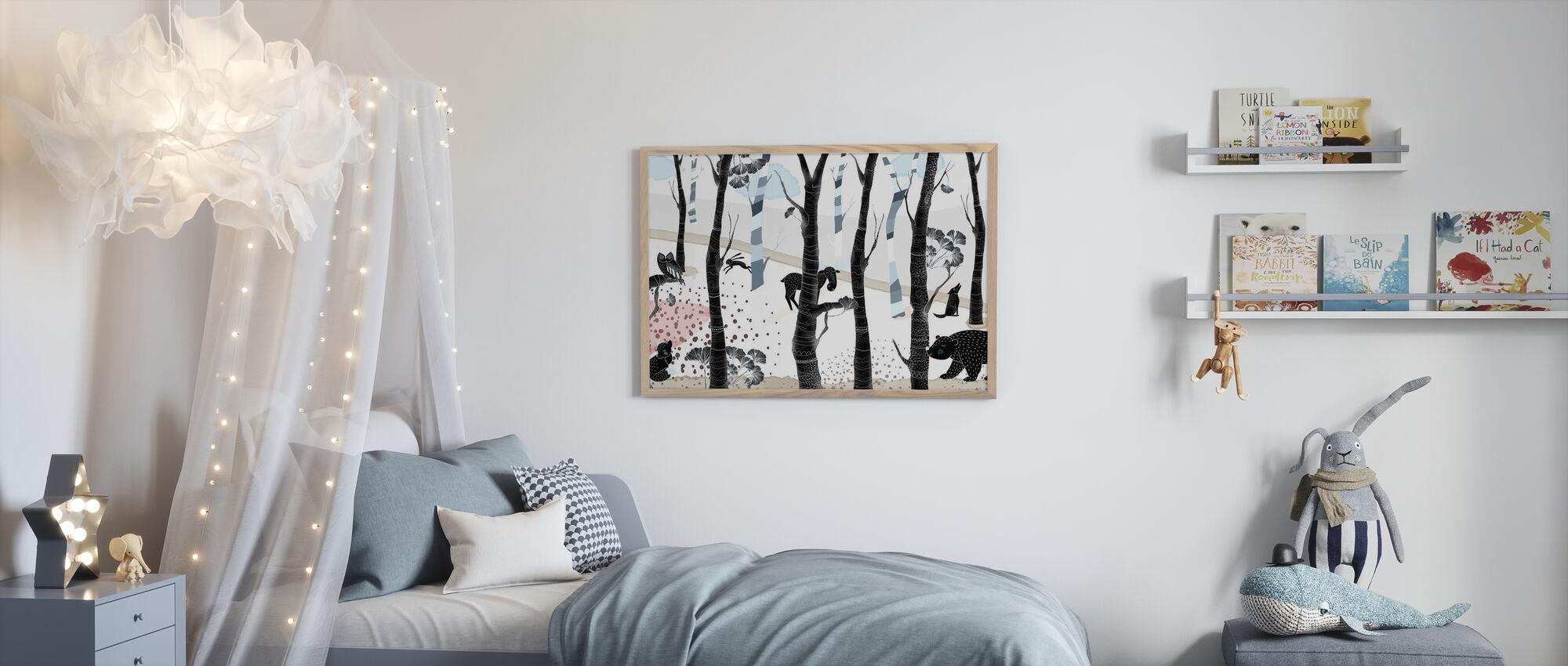 Woodland - Dark - Poster - Kids Room